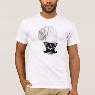 T-shirt de chef de crâne de hippie