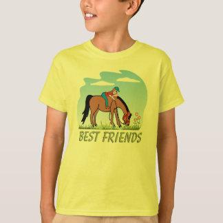T-shirt de cheval de meilleurs amis