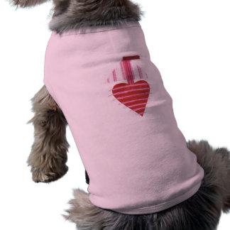 T-shirt de chien de bateau de Loveheart