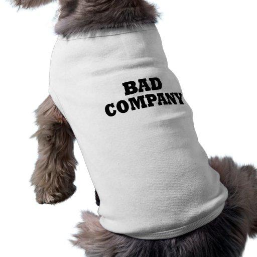 T-shirt de chien de Funny Bad Company Tee-shirts Pour Animaux Domestiques