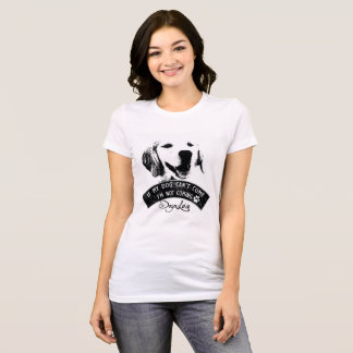 T-shirt de chien de golden retriever