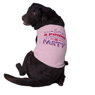 T-shirt de chien de partie de 8 livres des t-shirt pour chien