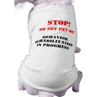 T-shirt de chien de réadaptation de comportement t-shirt pour chien