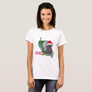T-shirt de chien de Terre-Neuve de Joyeuses Fêtes