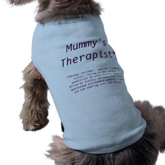 T-shirt de chien de thérapie d'animal familier (le t-shirt pour chien