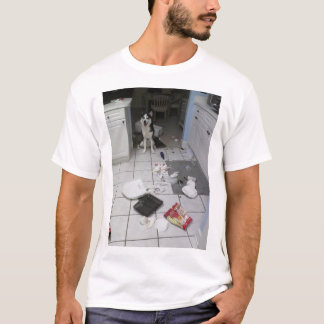 T-shirt de chien de traîneau sibérien