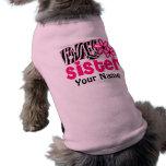 T-shirt de chien personnalisé par zèbre de grande  manteaux pour toutous
