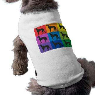 T-shirt de chienchien d'art de lévrier