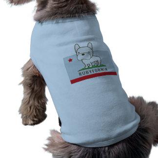 T-shirt de chienchien de Rubyfornia T-shirt Pour Chien