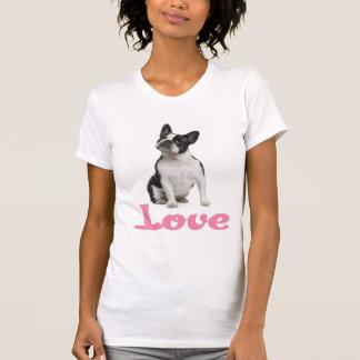 T-shirt de chiot de bouledogue français d'amour