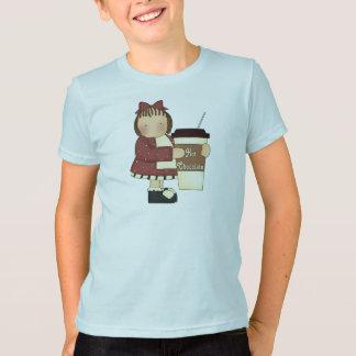 T-shirt de chocolat chaud d'enfants