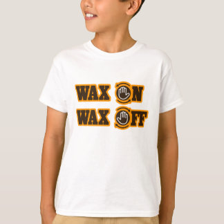 T-shirt De cire cire dessus -