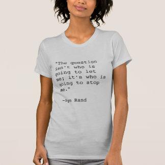 T-shirt de citation d'Ayn Rand