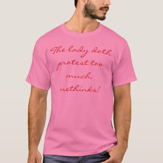 T-shirt de citation de Hamlet
