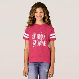 T-shirt de citation de pom-pom girl pour des
