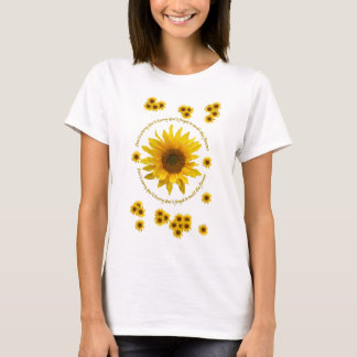 T-shirt de citation de tournesol