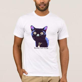 T-shirt de club de chat noir