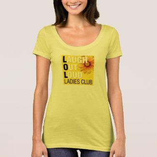 T-shirt de club de dames de LOL avec le grand logo