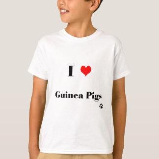T-shirt de cobayes d'amour des enfants I