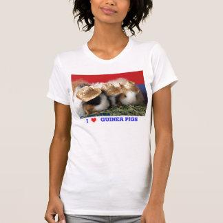 T-shirt de cobayes d'amour d'I des femmes