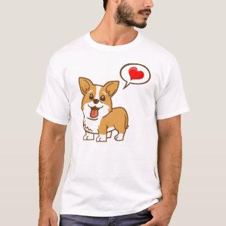 """T-shirt de """"coeur"""" de corgi pour les hommes"""