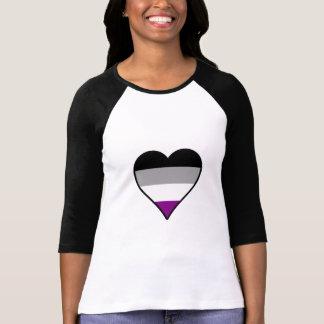 T-shirt de coeur de fierté d'Asexuality