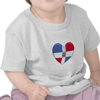 T-shirt de coeur de la République Dominicaine