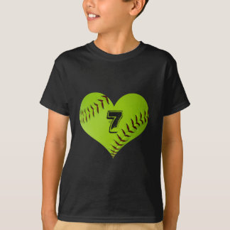 T-shirt de coeur du base-ball