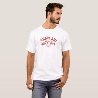 T-shirt de coeur du base-ball des hommes d'Ari