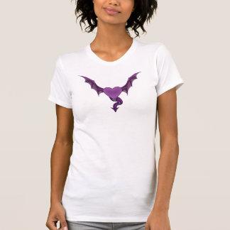 T-shirt de coeur du dragon des femmes