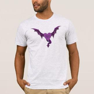 T-shirt de coeur du dragon des hommes