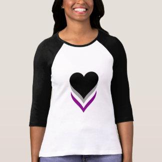 T-shirt de coeurs de fierté d'Asexuality
