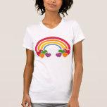 T-shirt de coeurs de n d'arc-en-ciel des années 80
