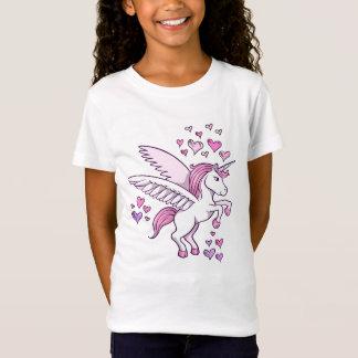 T-shirt de coeurs de Pegasus de licorne