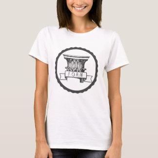 T-shirt de colonne de mousse