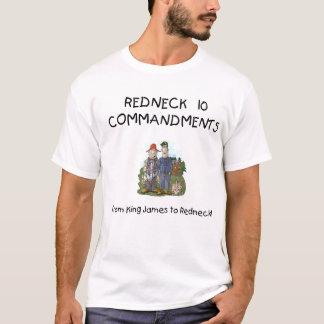 T-shirt de commandements du plouc 10