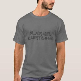 T-shirt de compte à rebours de flanelle