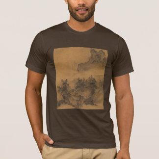 T-shirt de concepteur de brume de montagne de GUI