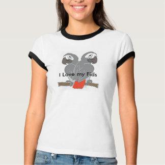 T-shirt de concepteur de perroquet