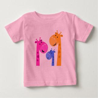T-shirt de concepteurs avec des girafes