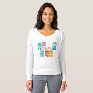 T-shirt de concepteurs avec des maisons de