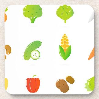 T-shirt de concepteurs avec le bio fruit tiré par sous-bock