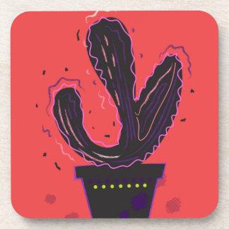 T-shirt de concepteurs : avec le plante de cactus dessous-de-verre