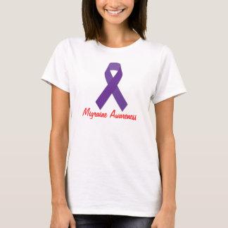 T-shirt de conscience de la migraine des femmes