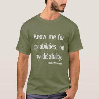 T-shirt de conscience d'incapacité