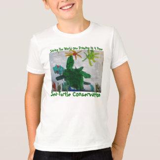 T-shirt de conservation de Mer-Tortue