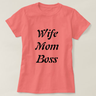 T-shirt de corail de patron de maman d'épouse