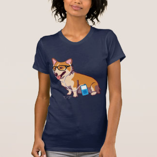 T-shirt de corgi de hippie (sans texte)