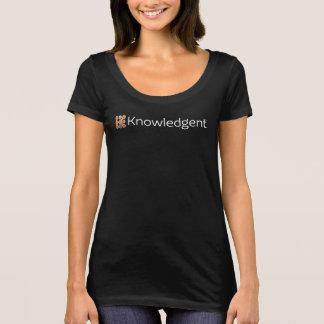 T-shirt de cou du scoop des femmes de Knowledgent