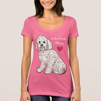 T-shirt de cou du scoop des femmes de maman de